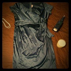 Plus Size Pinup Couture Royal Blue Wrap Dress